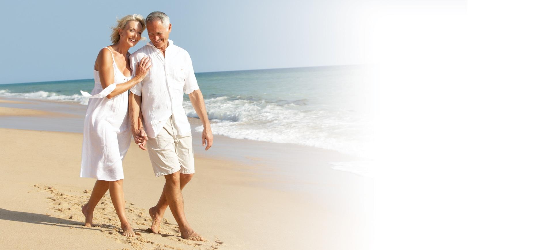 Old people on beach
